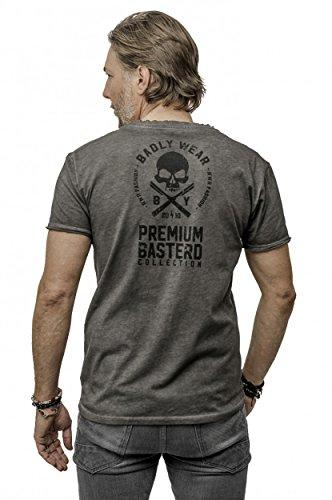 Badly In War we trust T - Shirt Biker Ink Tattoo Gang Gothic Grau