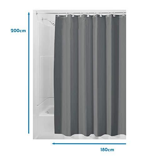 InterDesign Schimmelresistenter Wasserabweisender Stoff-Duschvorhang - 3