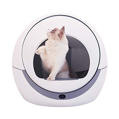Jlxl Katzentoilette, Selbstreinigend Haustier Katze Klo Tablett Deodorant Toilette Einfach Reinigen Filter Wasserdicht Raumkapsel