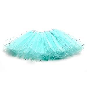HuaYang Nouveau petits étoiles design tutu costume de danse pour les filles(Bleu)