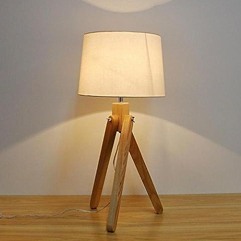 E27 Luce scrivania semplice in legno camera da letto moderna