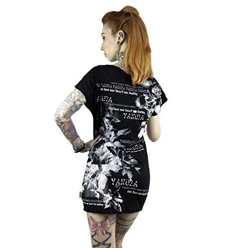 Yakuza Original Damen Flower Kleid Schwarz