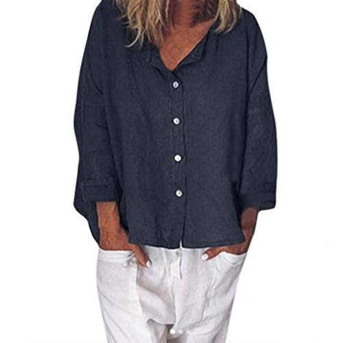 Herringbone Jacket Charcoal (XNBZW V Neck Tops Womens Long Sleeve Button Down Tunic Blouse T Shirt Casual V Neck Plus Size Button Solid Linen Loose Daily Blouse Shirt)