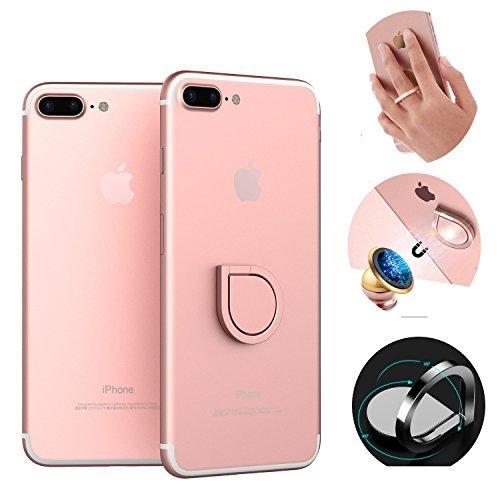 finoo | 360 Grad Ring Selfie Halter Strap | Handyhalterung für Finger | Griff-halter für Dein Smartphone, Tablet oder E-Reader | Für Iphone, HTC, Samsung, Sony uvm | Farbe Rose Gold