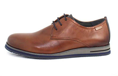 En cuir brun Blucher Pikolinos M9H-4106 Marron