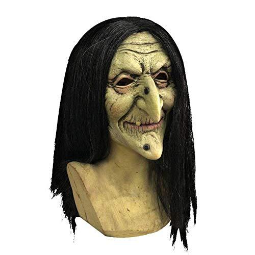 QWE Weibliche Geister heikle Maske Halloween Party Hexe Latex Maske -