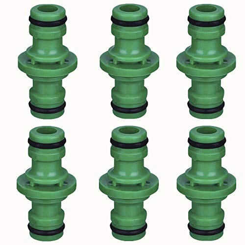 Imanom Extensor de Conectores de Manguera Macho Doble para unirse al Paquete de 6 Tubos de Tubo de Manguera de jardín (Verde)