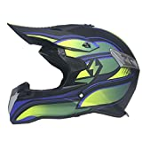 WZFC Crosshelm Motocross Enduro Downhill Helm Motorradhelm Integralhelm (Model-Victor),L