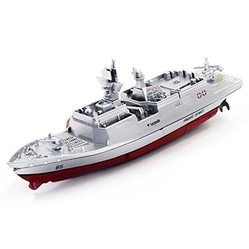 2.4G Fernbedienung Militär Kriegsschiff Modell Elektrische Spielzeug Wasserdicht Mini Flugzeugträger / Coastal Escort Geschenk für Kinder