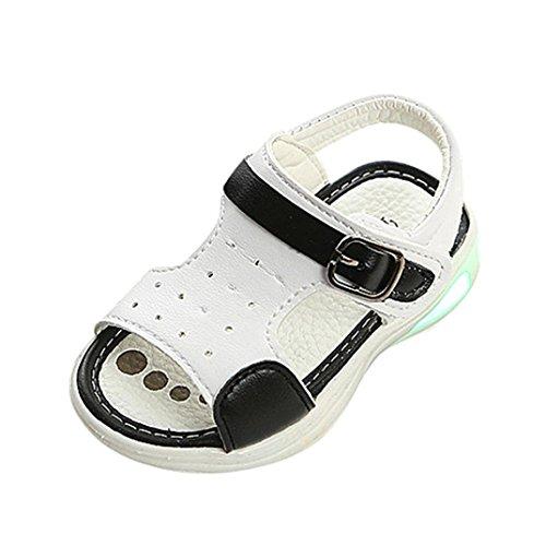 Sandali punta chiusa bambino sandalo bambino scarpe estive bambini e ragazzi scarpe bimba 0-18 mesi (età: 6-12 mesi, bianca)