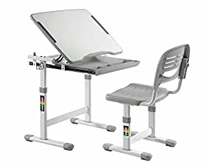 ... KIDOMATE Kids Height Adjustable Study Table U0026 Chair   Maintains Posture  And ComFort