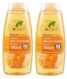 Dr. organic- Manuka Honey Duschgel 2x 250ml Revitalisierend, sensible, empfindliche Haut
