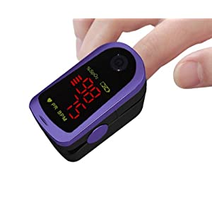Fingerpulsoximeter MD300C13 mit LED-Anzeige *Farbe: lila
