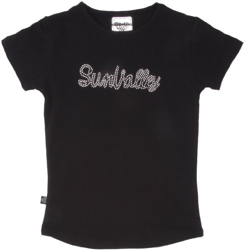 Sun Valley Junior - T-shirt a maniche corte da ragazza Flix, nero (nero), 4 anni