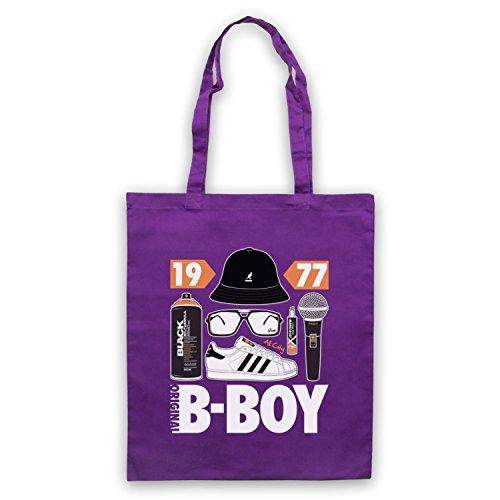 Original B-Boy Breakdancing Slogan Umhangetaschen Violett