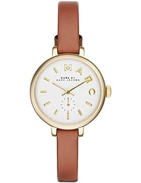 Marc Jacobs Damen-Armbanduhr Analog Leder Braun MBM1351