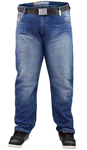Neue Mens Designer 7 Hosen Serie Marke große Denim Jeans frei Gürtel gerader Schnitt Stone Wash