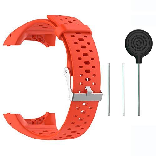 Saisiyiky Accesorio Reemplazo de Liberación Rápida Banda de Reloj de Silicona Suave Pulsera de Correa Deportiva para Polar M400 / M430 GPS Reloj smartwatch (Naranja)