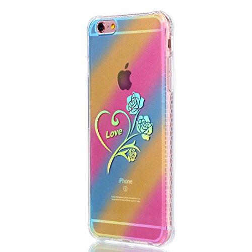 Apple iPhone 6/6S 4.7 Hülle, Voguecase Schutzhülle / Case / Cover / Hülle / Plating TPU Gel Skin (Kleine Gänseblümchen 10) + Gratis Universal Eingabestift Love Rose 01