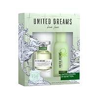 United Dreams Live Free By United Colors Of Benetton Gift Set For Women - Eau De Toilette, 80 ml - 150 ml, 2 Count