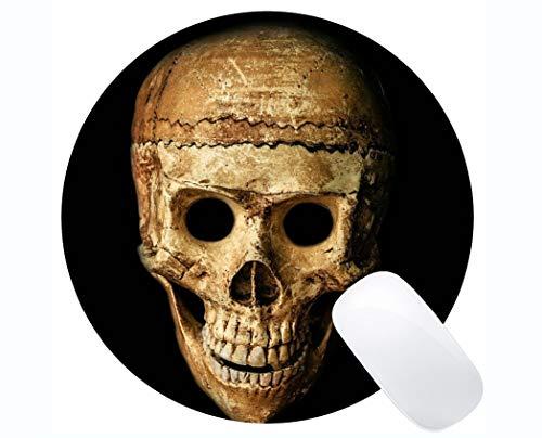 Gaming Round Mouse Pad Benutzerdefinierte, Schädel Halloween Menschen Maske Blind Gaming Runde Mouse Pad