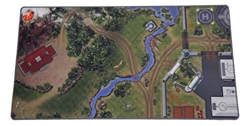 HuggyPlay Spielteppich Jurassic World, Dinosaurier Park, Dino Welt, 190 x 100 cm
