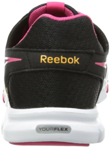 Reebok your Flex Trainette V46230, scarpe da outdoor fitness Nero (Schwarz (BLACK/PINK/WHITE/ORA))
