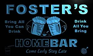 Enseigne Lumineuse p1093-b Foster's Home Bar Beer Family Last Name Neon Light Sign
