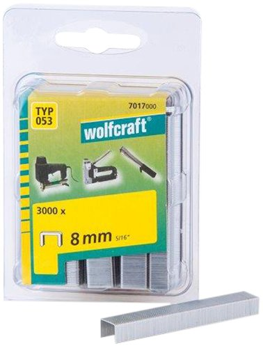 Wolfcraft 7017000 Agrafes larges acier Type 053 8 mm Lot de 3000