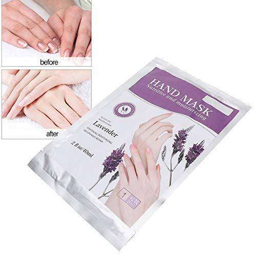 Feuchtigkeitsspendende Handschuhe Lavendel (40 ML Fashion Hand Mask, Lavendel Feuchtigkeitsspendende Handmaske + Handhautreparatur Erneuern Sie die Maske, um das Wasseröl für trockene Hände auszugleichen)