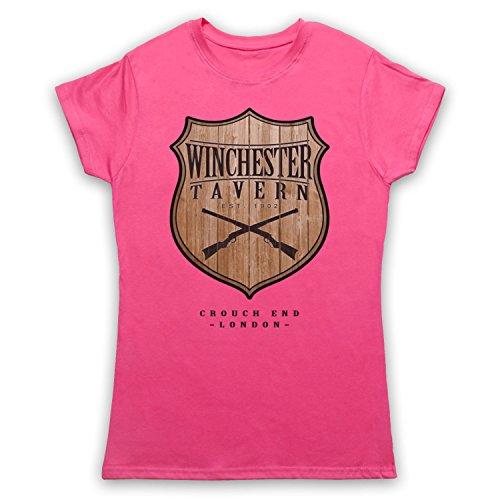 Inspiriert durch Shaun Of The Dead Winchester Tavern Unofficial Damen T- Shirt Rosa