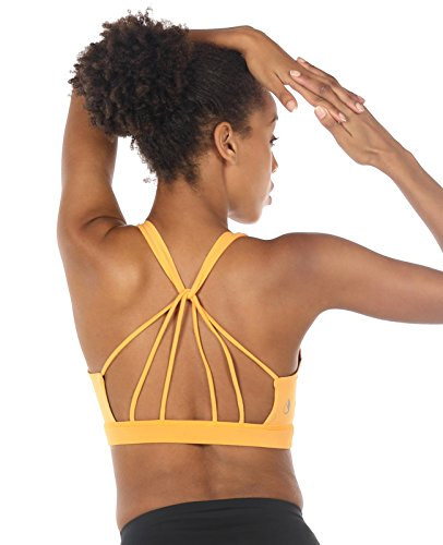 ack Yoga Sport BH Mit Gepolsterten für Fitness Training Top (XL, Banana Cream) (Top Banana)