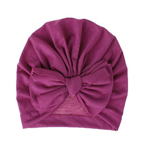 LILIGOD Neugeborene Baby Kopftuch Badehut Indian Bowknot Hut Mädchen Jungen Mode Einfarbig Niedlichen Hut Kappe Mützen Für die Fotografie Süß Babymütze