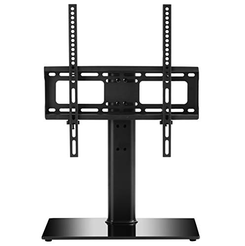 TAVR Furniture Soporte para TV universal giratorio, pie de TV para mesa, ajustable en altura de 32 a 50 pulgadas