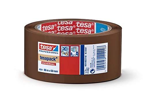 Tesa 4024 Bänder zum Verschließen von Kartons, PP Halter, Acryl-Emulsion, Wasserabweisend, 52 μm, 66 m x 50 mm, transparent, 36 Stück - Acryl-emulsion
