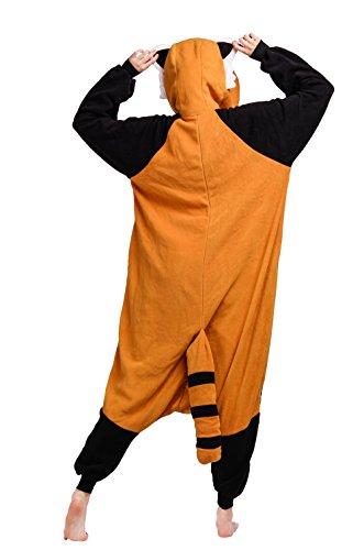 Wamvp Kigurumi Pigiama Adulto Anime Cosplay Halloween Costume Attrezzatura Marrone nero