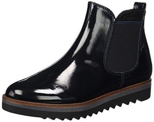 MARCO TOZZI Damen 25406 Chelsea Boots, Blau (Navy STR.Pat.), 39 EU