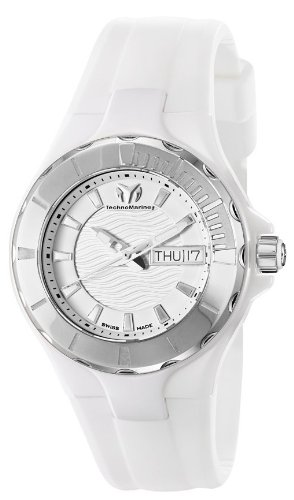 Technomarine 110022 - Reloj analógico de cuarzo unisex con correa de silicona, color blanco
