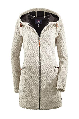 G.I.G.A. DX Damen Roshana Strickparka/Strickmantel/Parka In Strickoptik Mit Kapuze, Off-White, 42