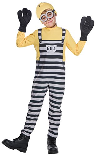 Kostüm Minion Boy - Rubies Despicable Me 3 Jailed Minion Tom Boys Costume S