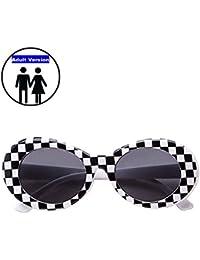 FOURCHEN Gafas de sol para mujer/hombre, Bold Retro Oval Mod Gafas de sol
