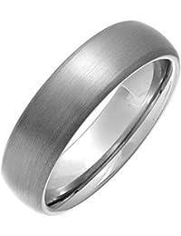 Theia Ring Titan Matt poliert Court Form metallisch 6mm