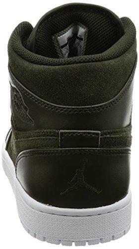 Nike Air Jordan 1 Retro High Og, Scarpe sportive Uomo SEQUOIA/MAX ORANGE-WHITE