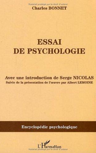 Essai de psychologie : (1755) par Charles Bonnet, Serge Nicolas, Albert Lemoine