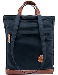KYHO Totepack ELLA Daypack Rucksack Tasche 2 in 1 Handtasche Bürotasche Damen Shopper Umhängetasche Wickelrucksack Schwarz A4 | Büro Uni Schule