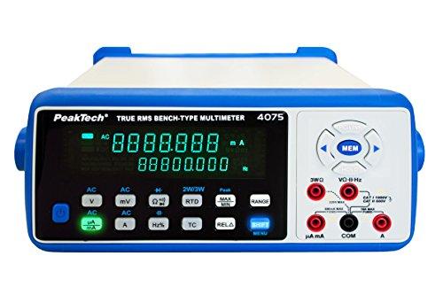 PeakTech Multímetro Digital de 45/6cifras de mesa con USB, LAN, Bluetooth, RS-232y tarjeta SD, 1pieza, P 4075