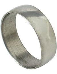 Memoir Gun metal black broad thumb finger ring for Men