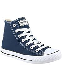 Elara–Unisex High Top Sneakers–Zapatos de Deporte Tejido Zapatos de Loisirs