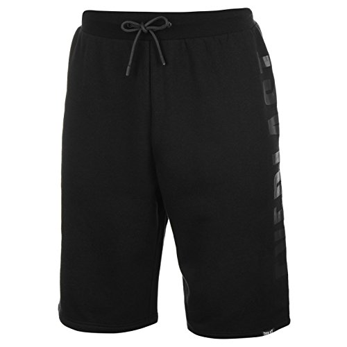Everlast Herren Grosses Logo Shorts Kurze Jogginghose Hose Trainingsshorts Schwarz Medium (Everlast Baumwoll-shorts)