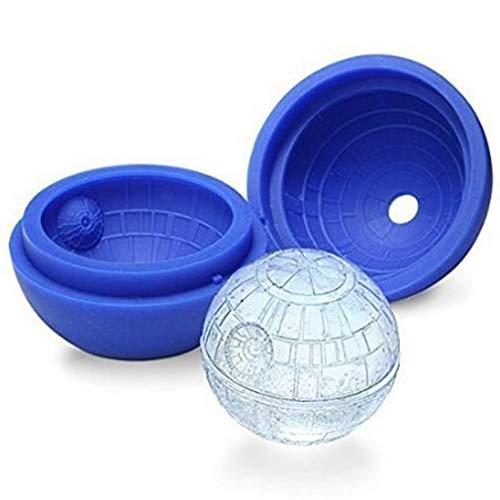 NANIH Home Jooks Ice Ball Schimmel Star Wars Todesstern 3D Schimmel Silikon Prime EIS Kugel Maker Eiswürfelform Tablett - Silikon-eis-kugel-schimmel